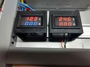 Voltage meter enclosure for DIN rail