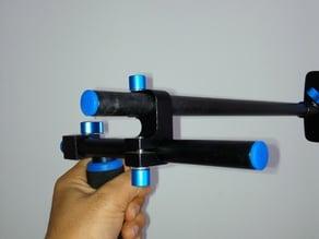 Double Clamp for Single 15mm Rail Mount //accesorio sujetador de 2 barras de 1,5cm en rig shoulder