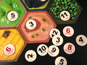 Catan Number Tokens