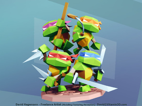 Low Poly Teenage Mutant Ninja Turtles
