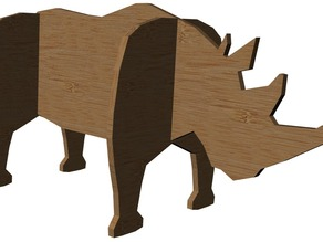 Rhinoceros laser cut