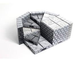 OpenForge Cut-Stone OpenLOCK Angled Full Height Risers
