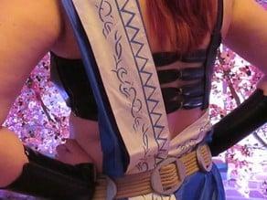 Final Fantasy XII: Fang Belt Buckles & Sash Stencil