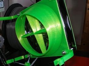 Fan shroud for 120mm fans