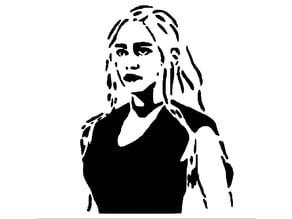Daenerys Targaryen stencil