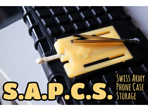SAPCS - Swiss Army Phone Case Storage
