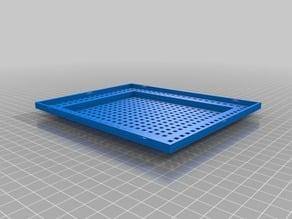 Fish tank filter reusable frame