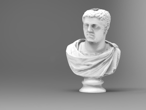 Marble head of the emperor Caracalla (211-217)