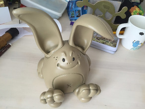 Rabbit Piggybank - save money for your next printer! :)