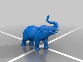 Bull Elephant and Handler