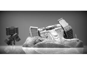 Space communist ship wreckage