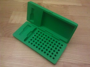 Box for hex bits and stubby screwdriver