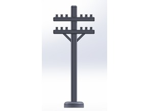 HO Scale Modular Telephone Pole