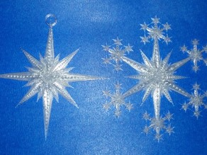 Star and Snowflake Star Ornament