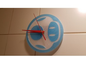 Mushroom Wall Clock - Single / dual color layed