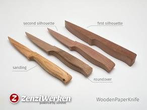 Wooden Paper Knife (cnc)