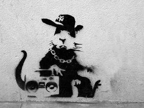 Hood Rat Stencil (Banksy)