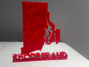 Rhode Island Topographical Map