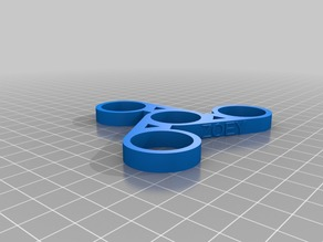 Zoey Customized.89 Custom Captioned Fidget Spinner (Dual Extrusion)