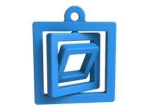 Square gimble keychain (easy-print)