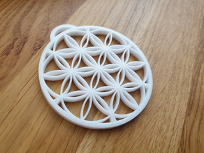 ''Flower Of Life'' Keychain