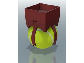 Tennis ball vibration damping feet for lack table (with ball holder clips)