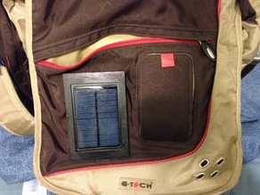 Solar Charger Backpack Mount