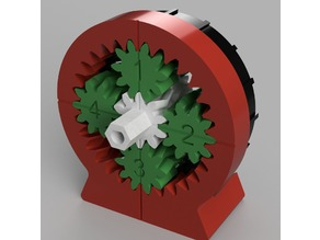 100:1 Compound Planetary Gear Reducer