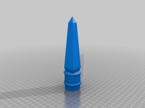 Finial Obelisk (for PVC Halloween Fence)