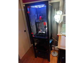 Printer Cabinet for Monoprice Maker Select from Ikea LACK Tables