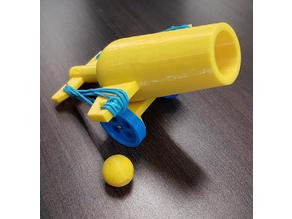 Elastic-Powered Toy Canon Launcher
