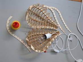 Teardrop lamp - split parts to replace lightbulb
