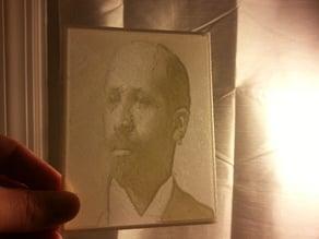 W.E.B. Du Bois Lithopane