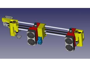 Parking magnetic dual extruder E3D V6 by HalenTech