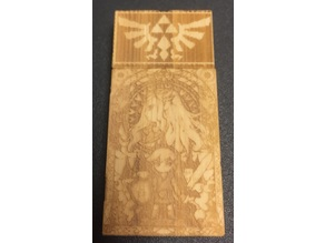 Zelda Laser Etched Bamboo Flash Drive
