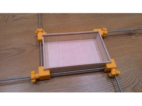Clamp for boxes or frames