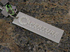 Aperture Science Logo Keychain (Portal)