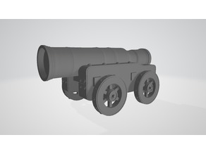 Mons Meg Cannon for DnD and Tabletop Gaming (28mm)