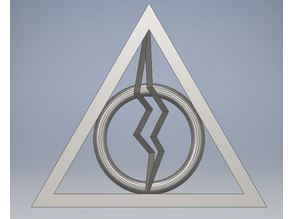 Harry Potter Deathly Hallows Pendant lightning bolt