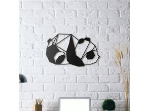 Panda Wall Sculpture 2D