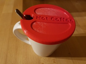 HotCoffee Mug Cap to keep your drink warm.