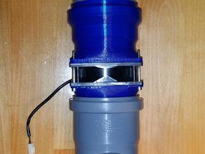 80mm Fan to DN75 HT-Pipe Adapter