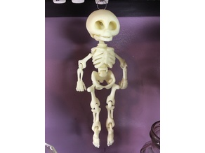 One Piece Print Dangling Skeleton