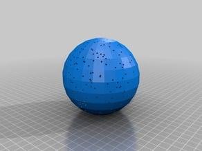 celestial sphere 500 brightest stars star projector (originally by sphynx dec2 2012)