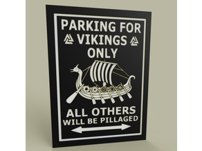 LOL - Vikings - Parking for Vickings Only
