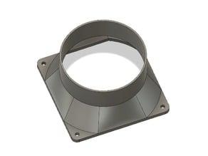 120mm PC fan to 100mm duct shroud