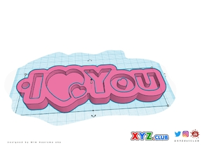 Special - Valentine's Day - I Love You - Keychain - Singlecolor - Design