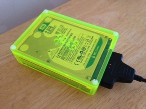 "2.5"" Hard drive case (based on the PiBow by Pimoroni)"