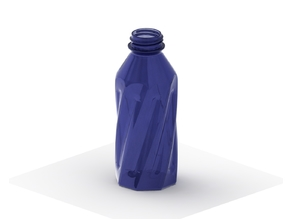Simple Twisted Bottle with Threads 2