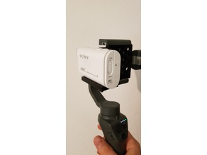 Sony FDR X1000 DJI OSMO Mobile 2 Adapter